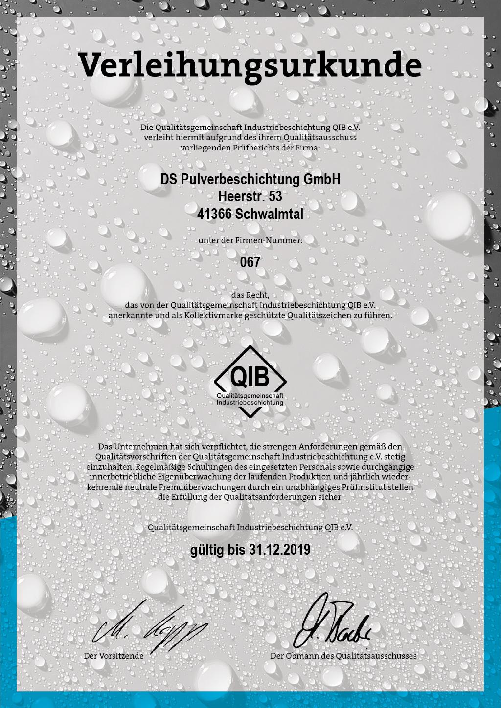QIB-Zertifikat
